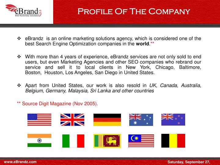 Profile Of The Company