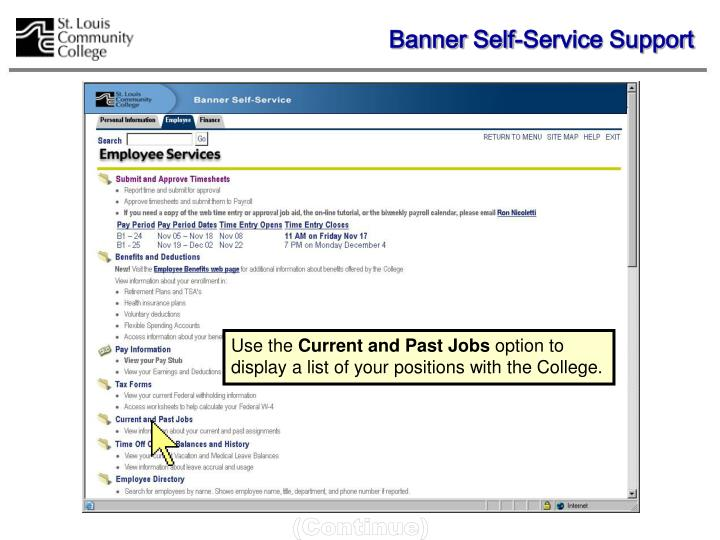 Banner Self-Service Support