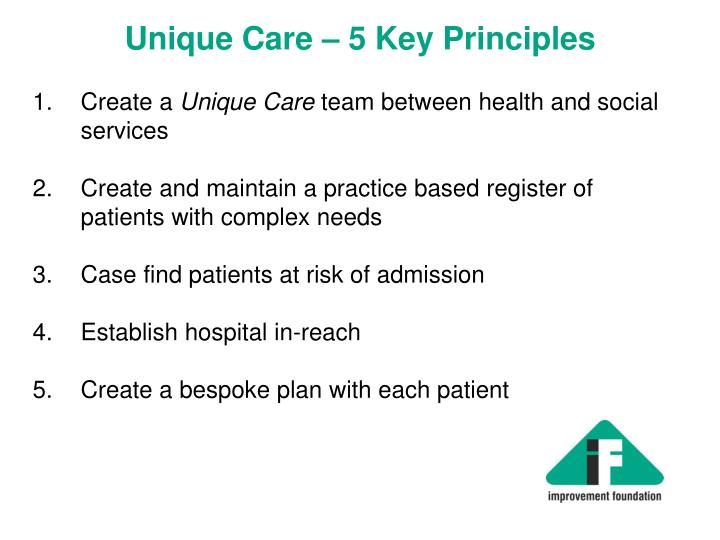 Unique Care – 5 Key Principles