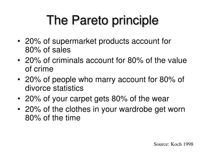 The Pareto principle