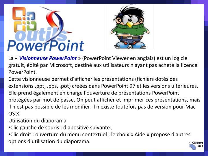 La Visionneuse PowerPoint