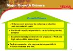 major growth drivers
