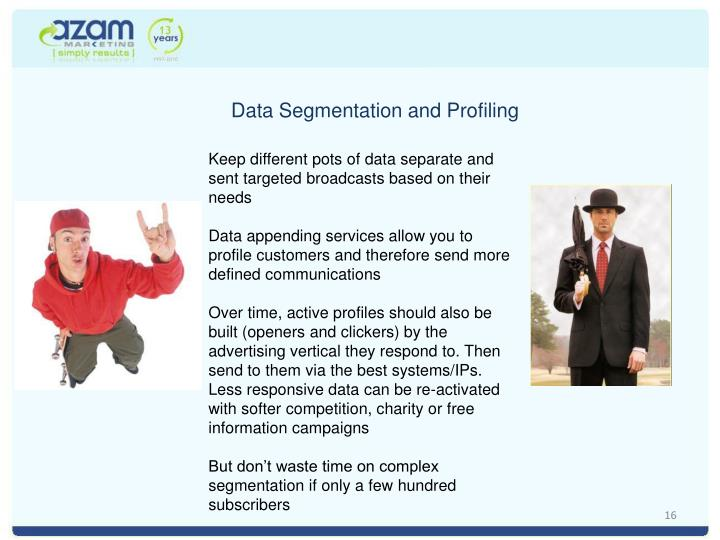 Data Segmentation and Profiling