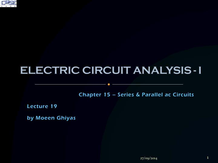 electric circuit analysis i