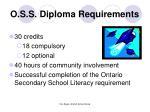 o s s diploma requirements
