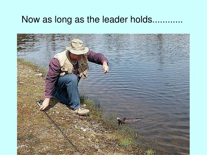 Now as long as the leader holds............