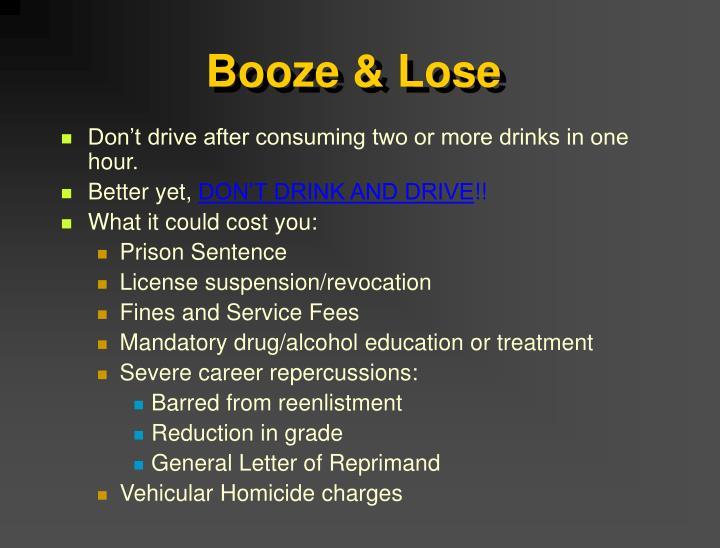 Booze & Lose