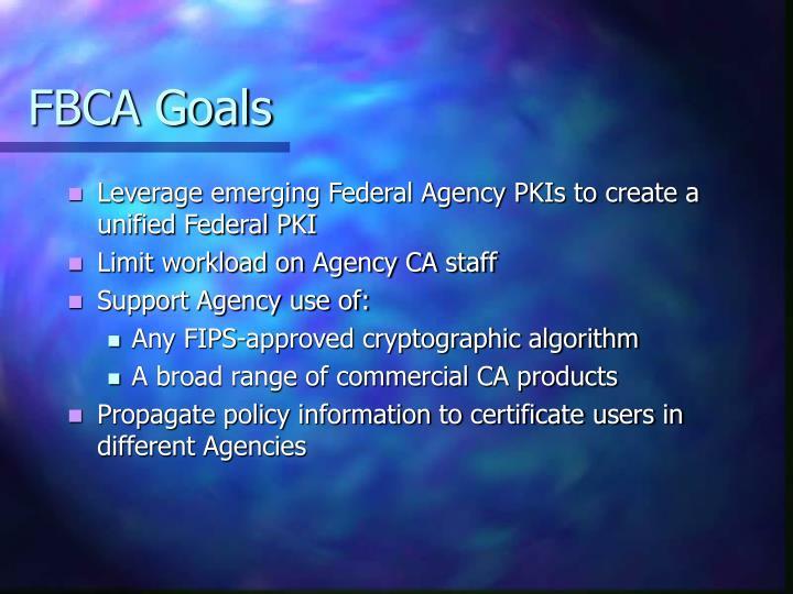FBCA Goals