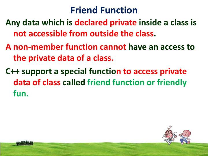 Friend function1