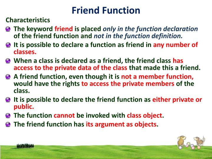 Friend Function