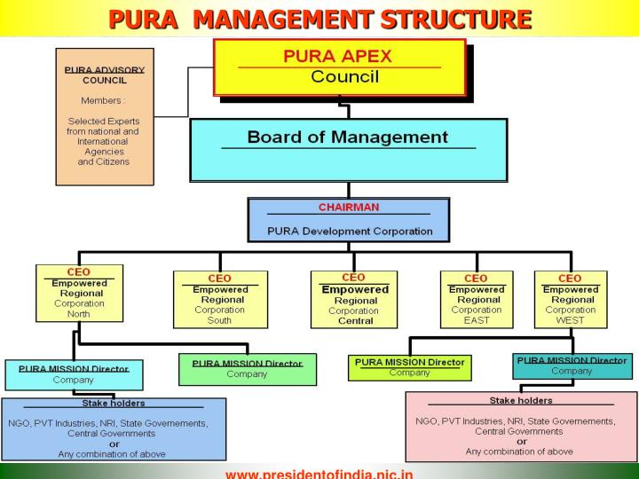 PURA  MANAGEMENT STRUCTURE