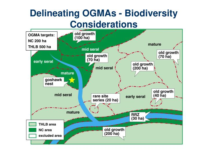 Delineating OGMAs - Biodiversity Considerations