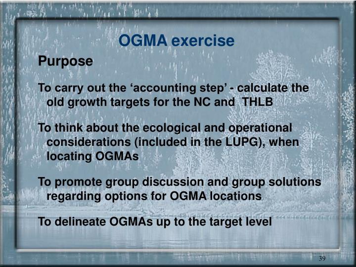 OGMA exercise