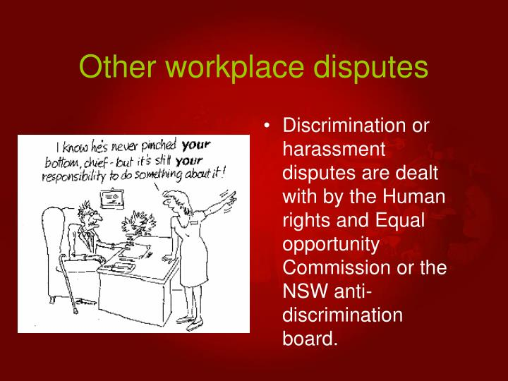 Other workplace disputes