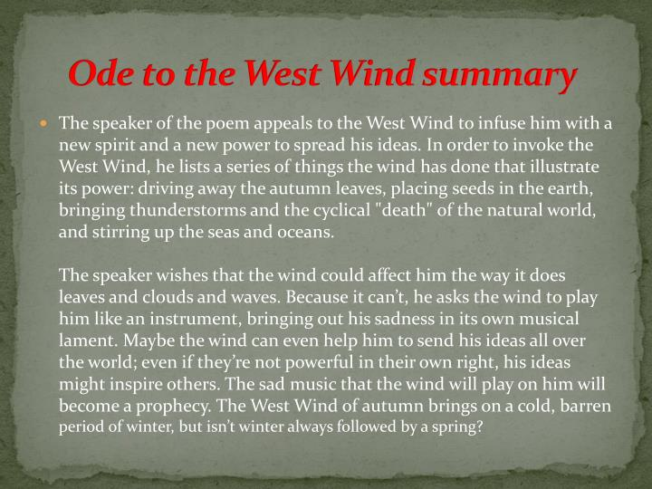 Ode to the west wind essay