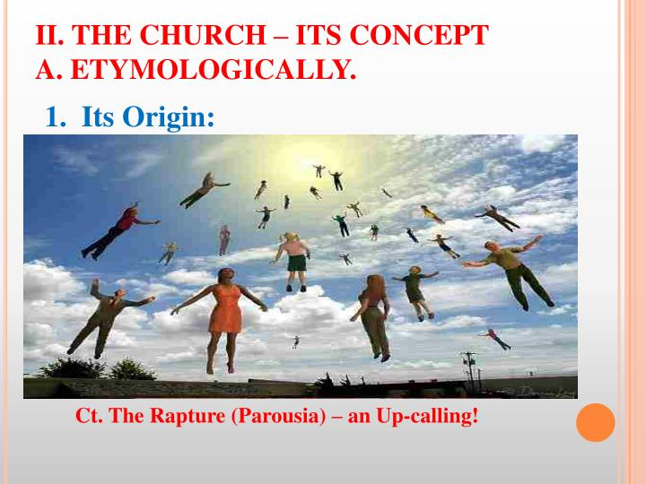 II. THE CHURCH – ITS CONCEPT