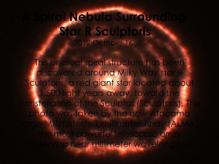 A Spiral Nebula Surrounding
