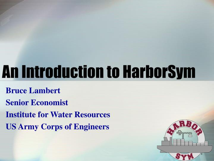 An introduction to harborsym