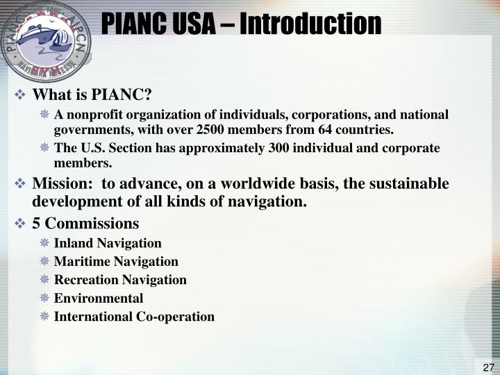 PIANC USA – Introduction