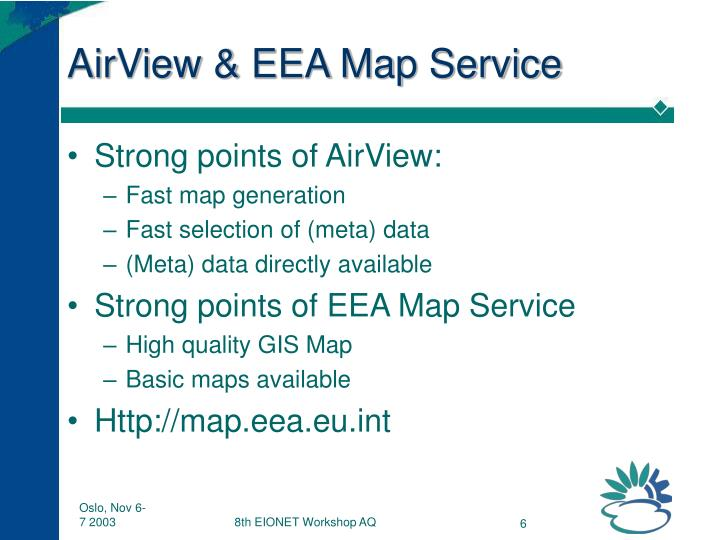 AirView & EEA Map Service