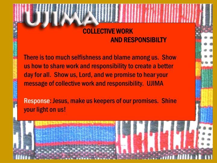 COLLECTIVE WORK