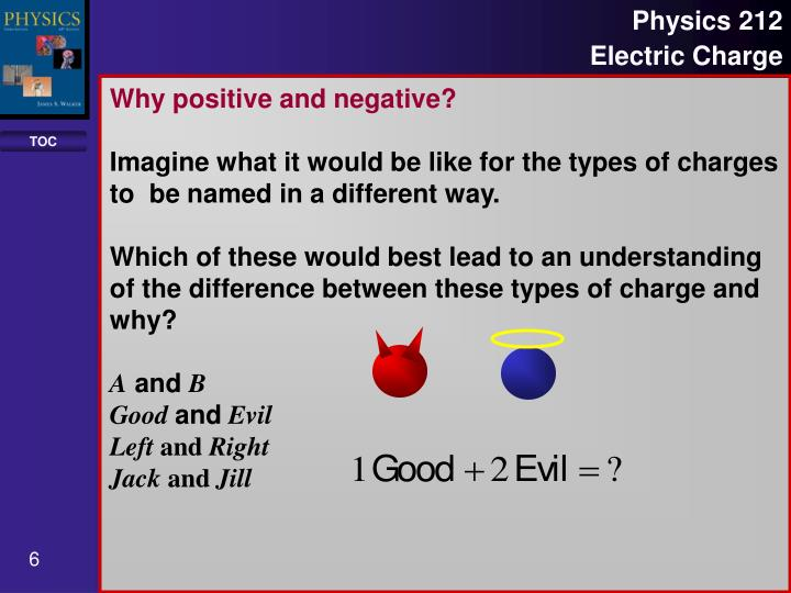 Why positive and negative?