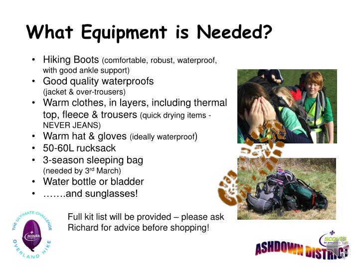 What Equipment is Needed?