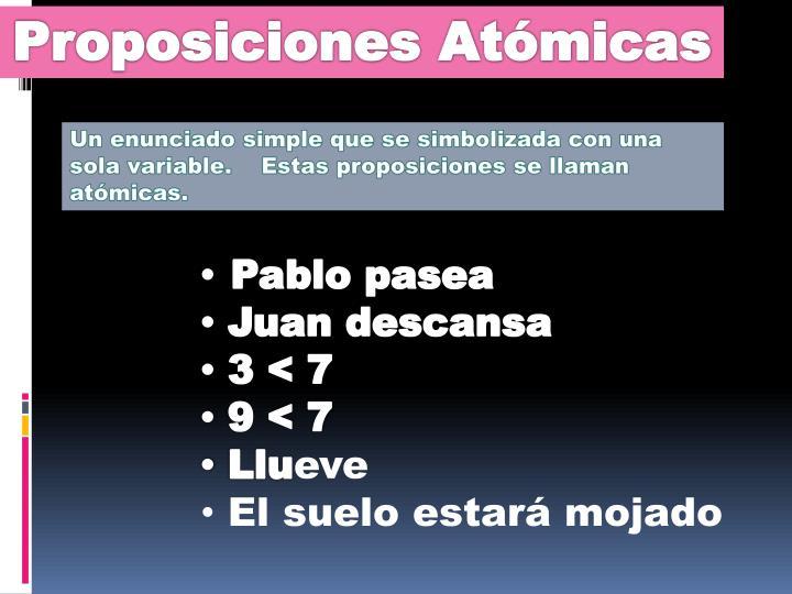 Proposiciones Atómicas