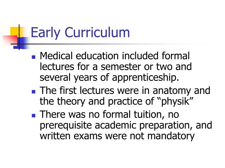 Early Curriculum