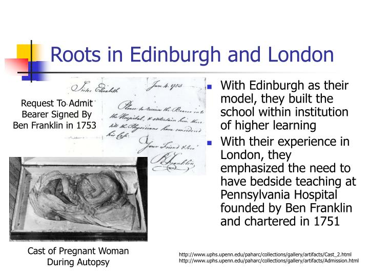 Roots in Edinburgh and London