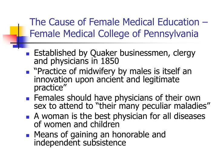 The Cause of Female Medical Education – Female Medical College of Pennsylvania