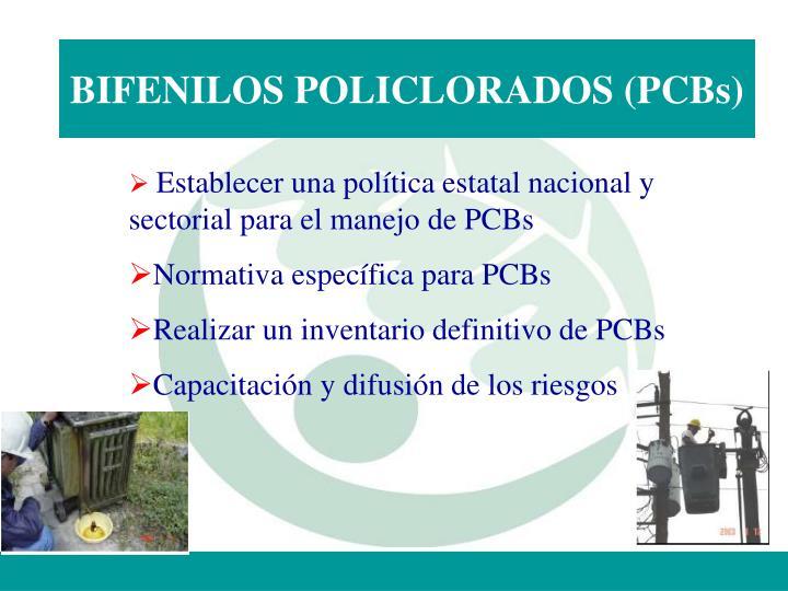 BIFENILOS POLICLORADOS (PCBs)
