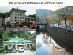 hot springs and bathhouses as communal assets
