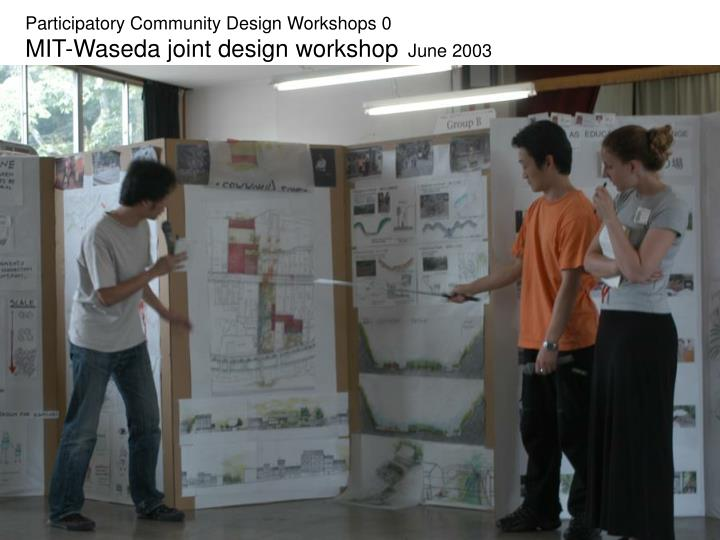 Participatory Community Design Workshops 0