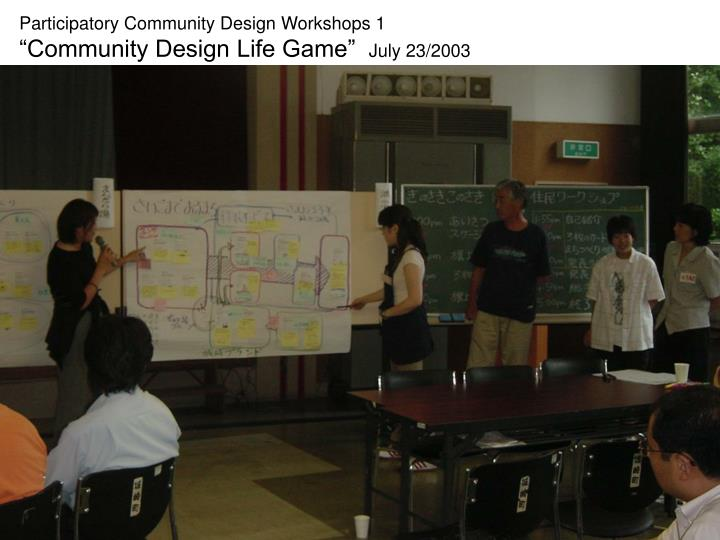 Participatory Community Design Workshops 1
