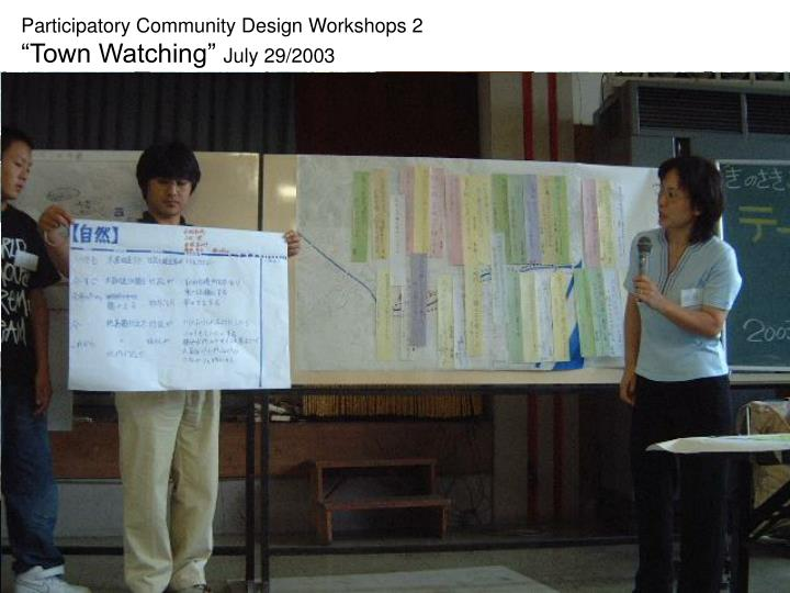 Participatory Community Design Workshops 2