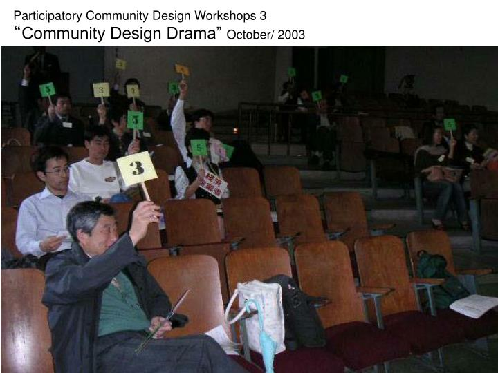 Participatory Community Design Workshops 3