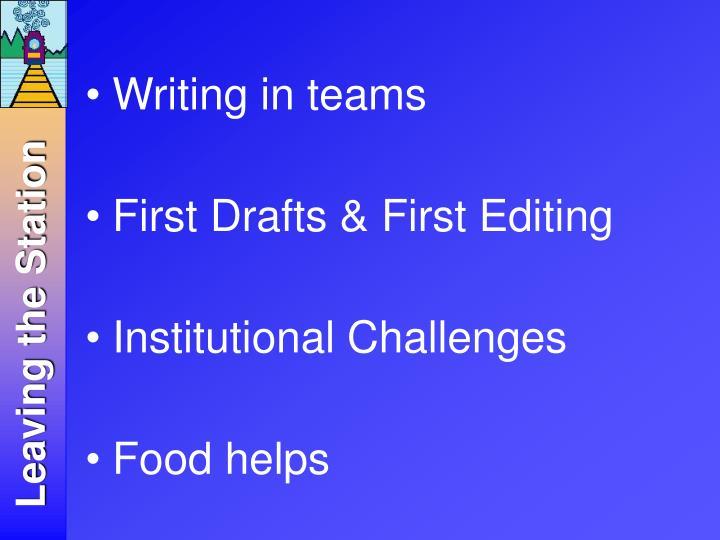 Writing in teams