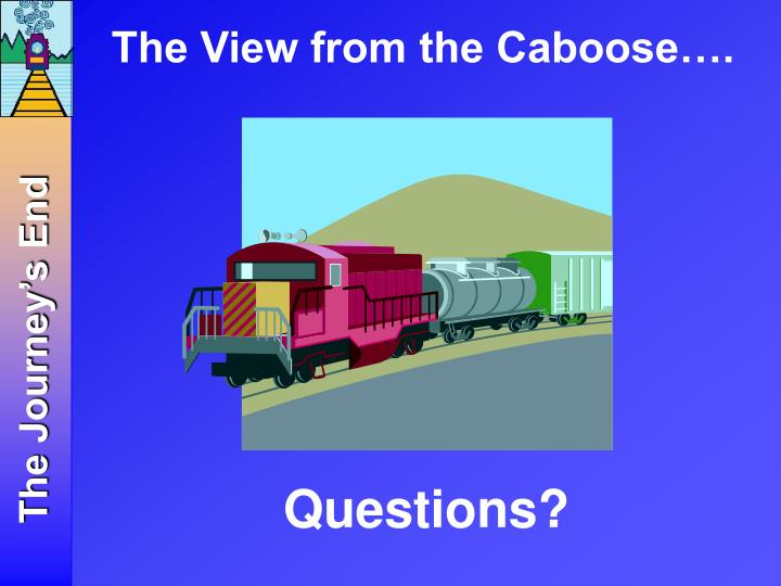 The View from the Caboose….