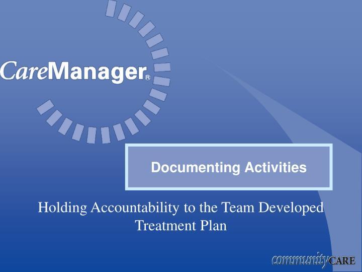 Documenting Activities