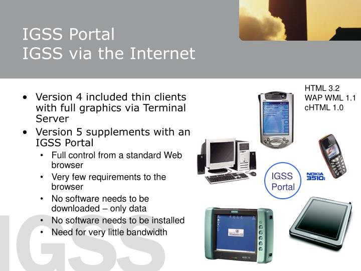 Igss portal igss via the internet