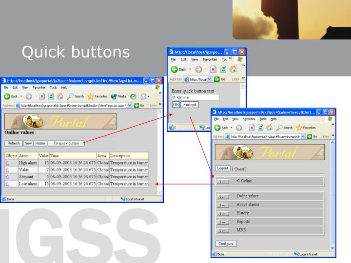 Quick buttons
