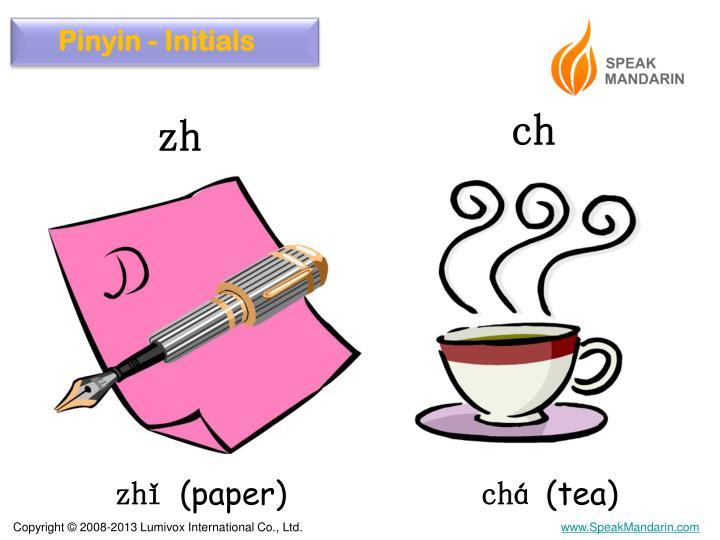 Pinyin - Initials