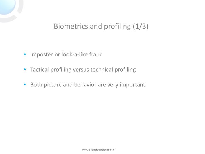 Biometrics and