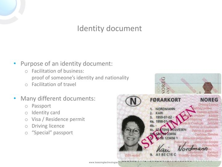 Identity document