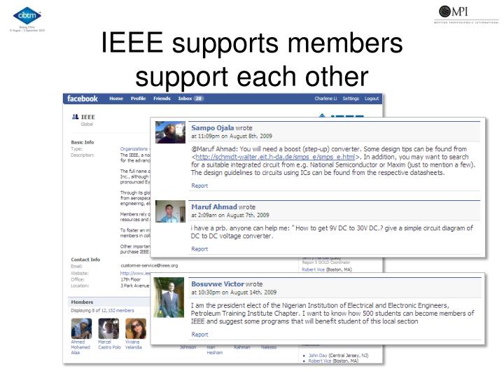 IEEE supports members