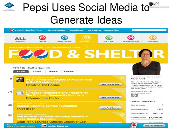Pepsi Uses Social Media to Generate Ideas