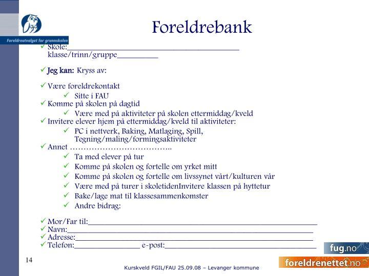 Foreldrebank