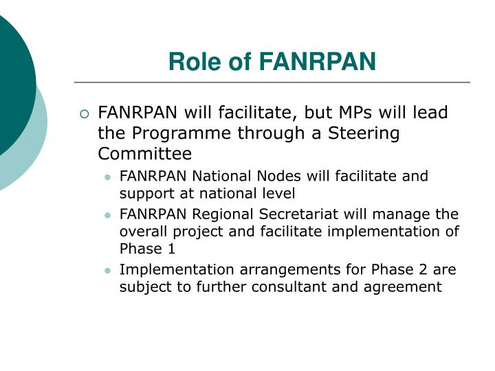 Role of FANRPAN