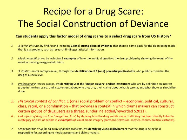 Recipe for a Drug Scare: